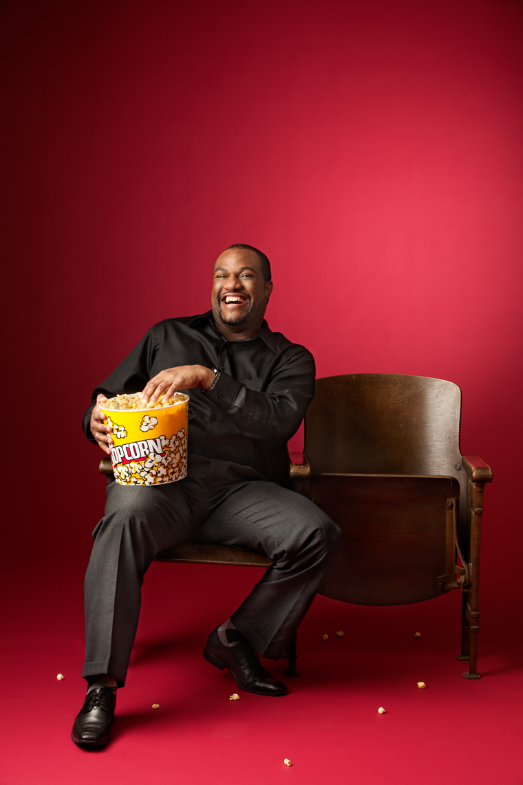 Movie viewer with popcorn | Radian Commercial Advertising