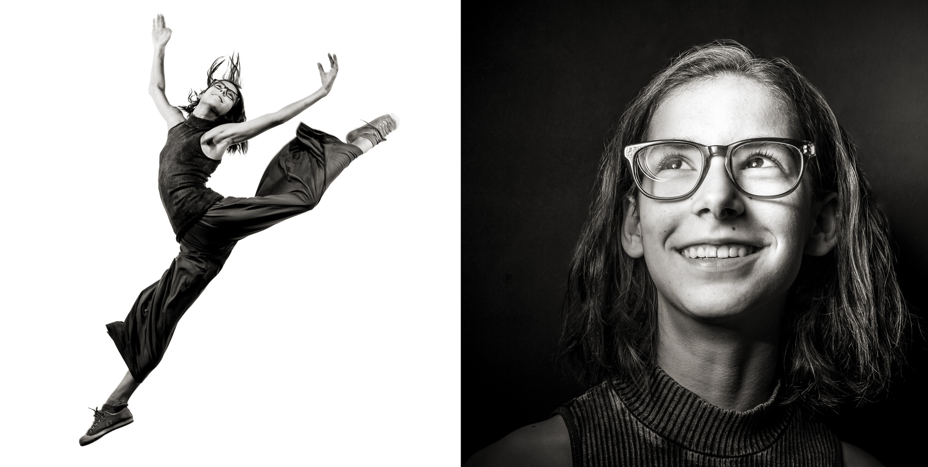 black-white-education-students-portraits-jump