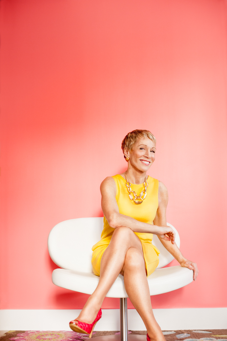 Editorial - Celebrity Portrait - Barbara Corcoran - red seamless