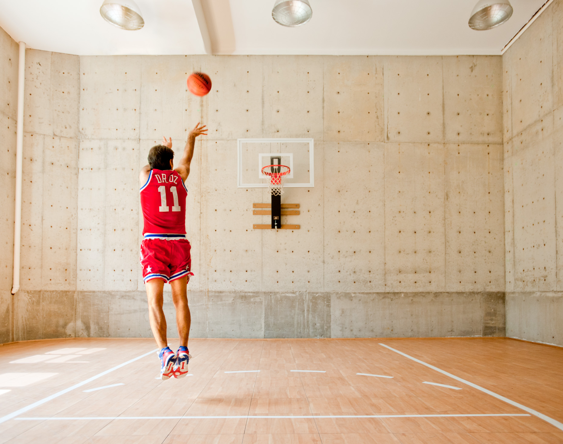 Dr. Oz | Home Basketball Court | Editorial Photographer