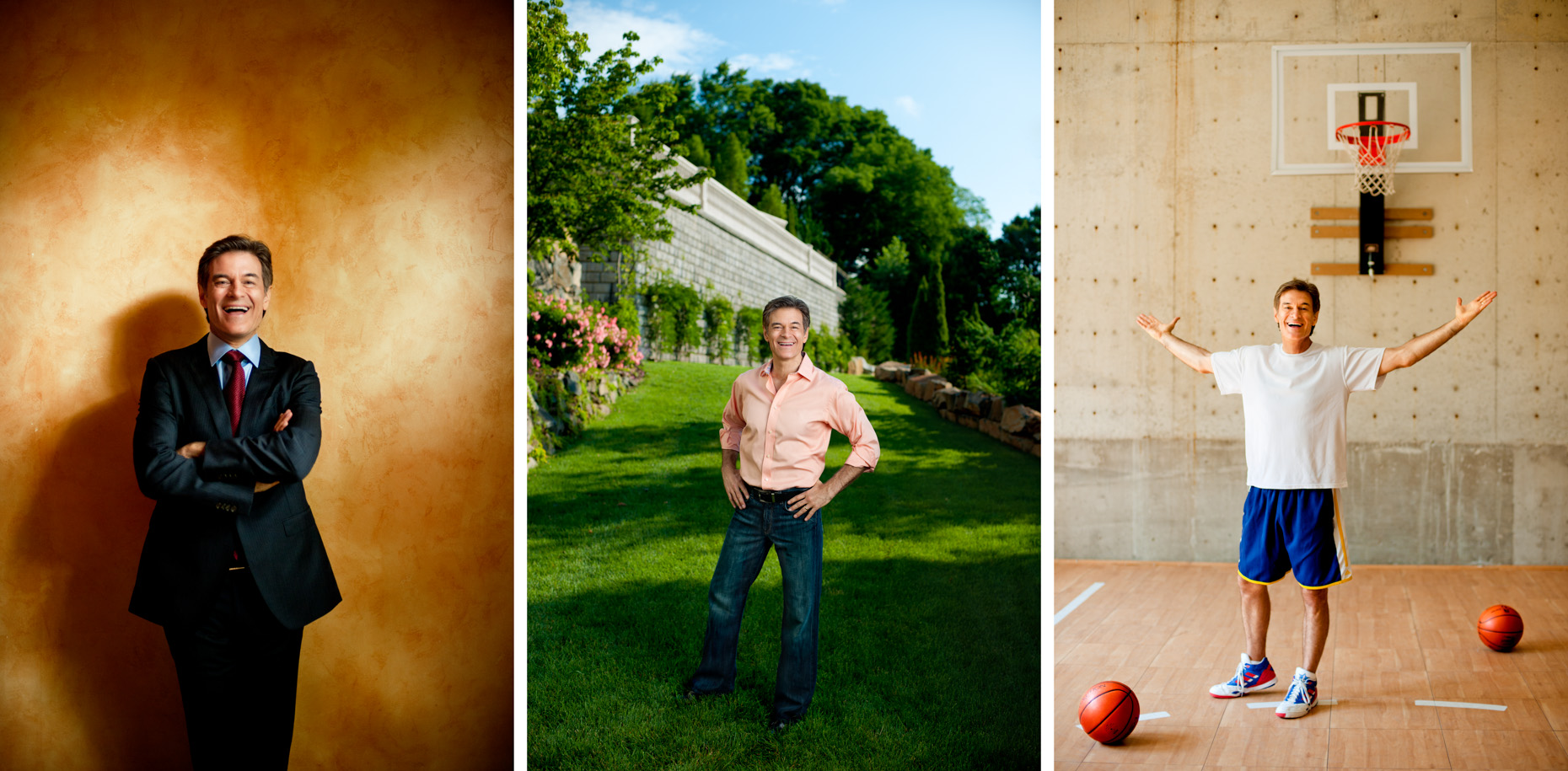 Editorial Portraits - Celebrity Dr. Oz - wall, garden, basketball