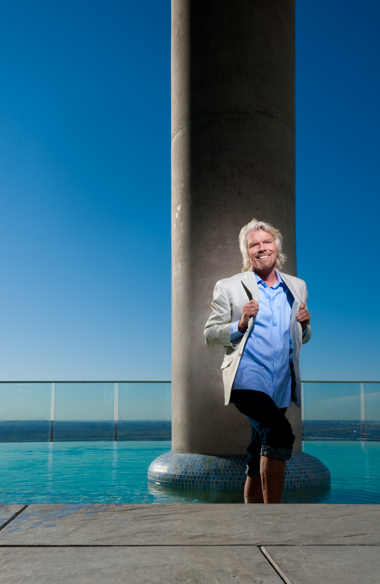 Editorial - Celebrity Portrait - Richard Branson - Virgin Group - Pool