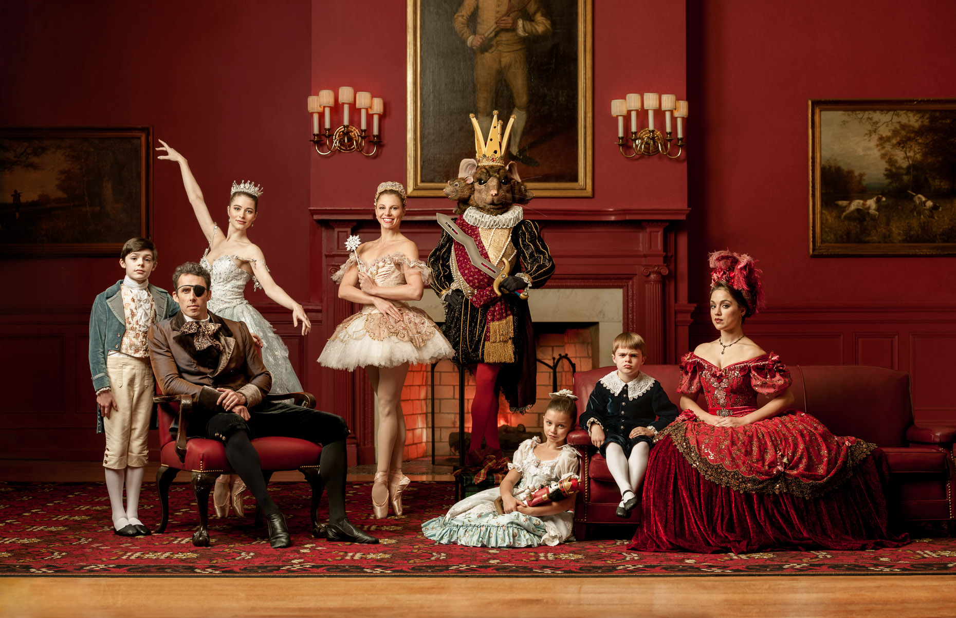 Nutcracker Group Portrait | Pennsylvania Ballet Advertising