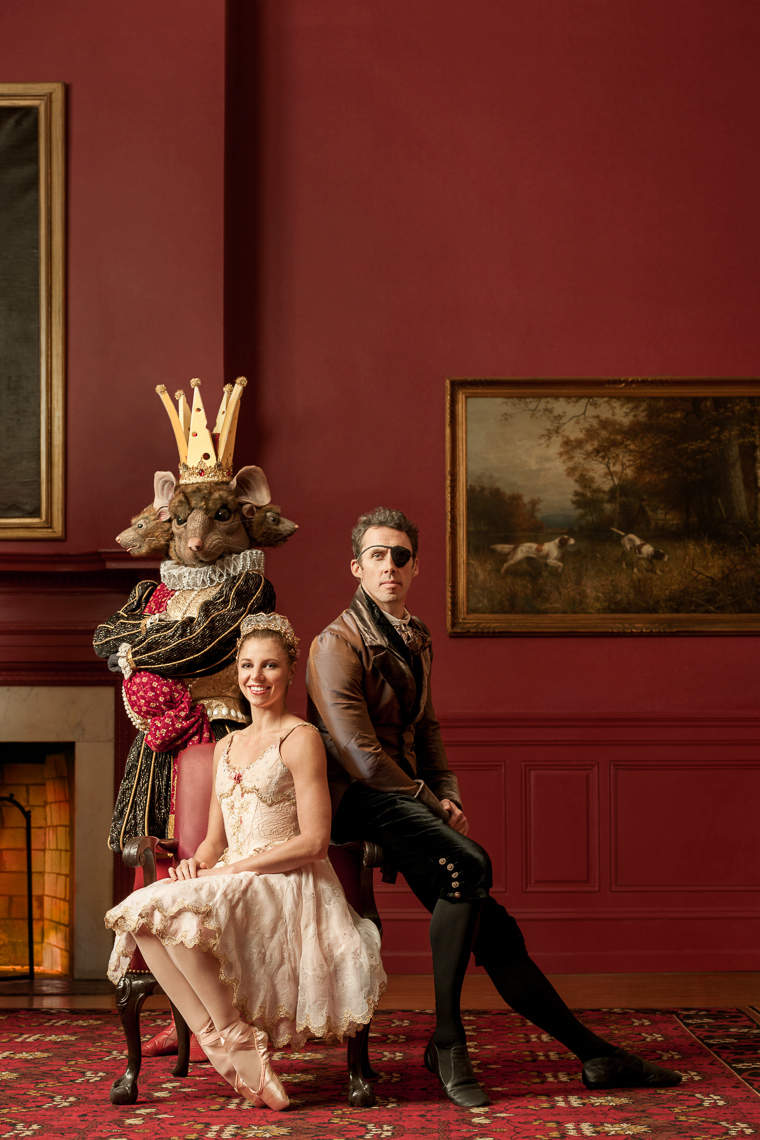 Portrait of nutcracker cast posing