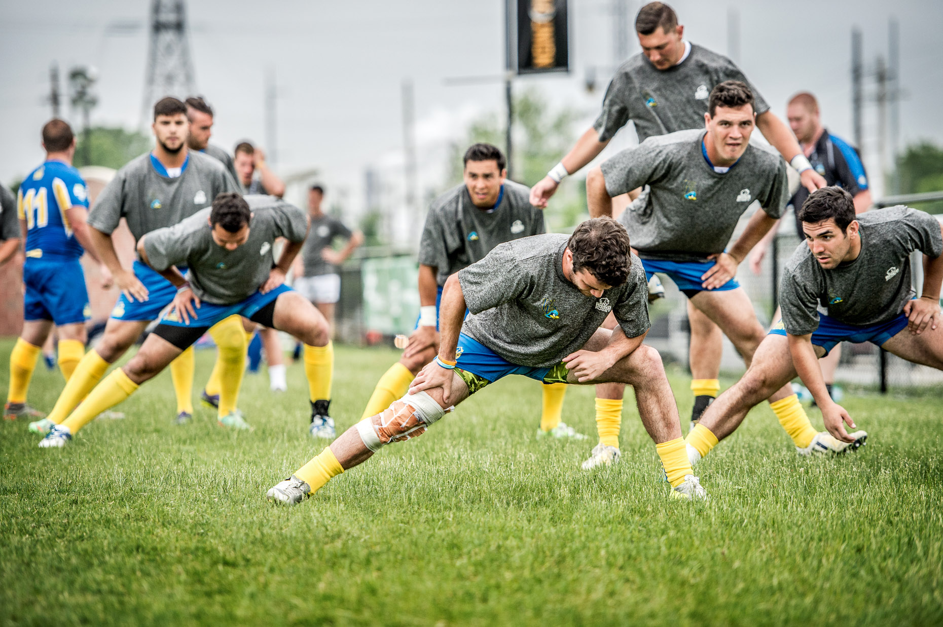 Collegiate Rugby Stretch | Men | Commercial Photographer