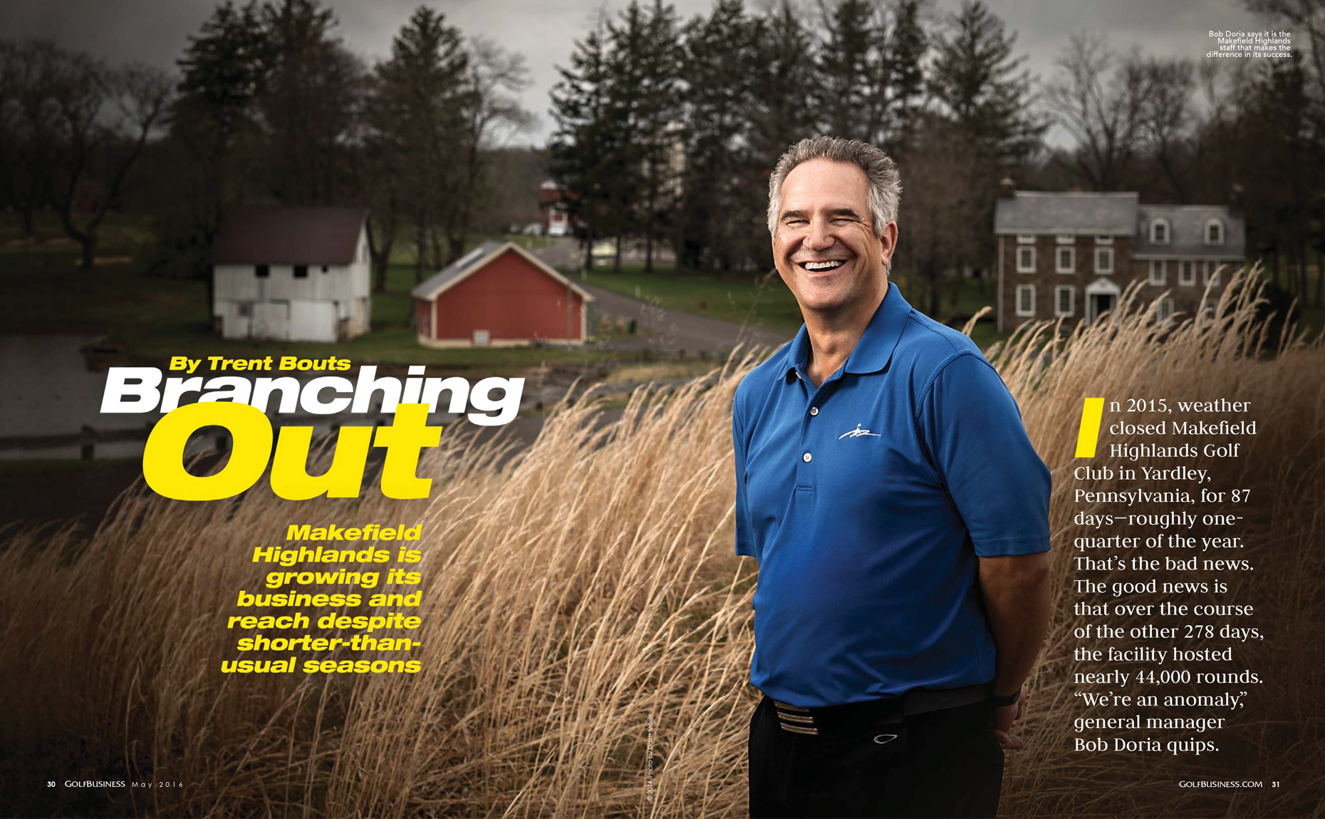 Bob Doria | Makefield Highlands GM | Golf Business Editorial