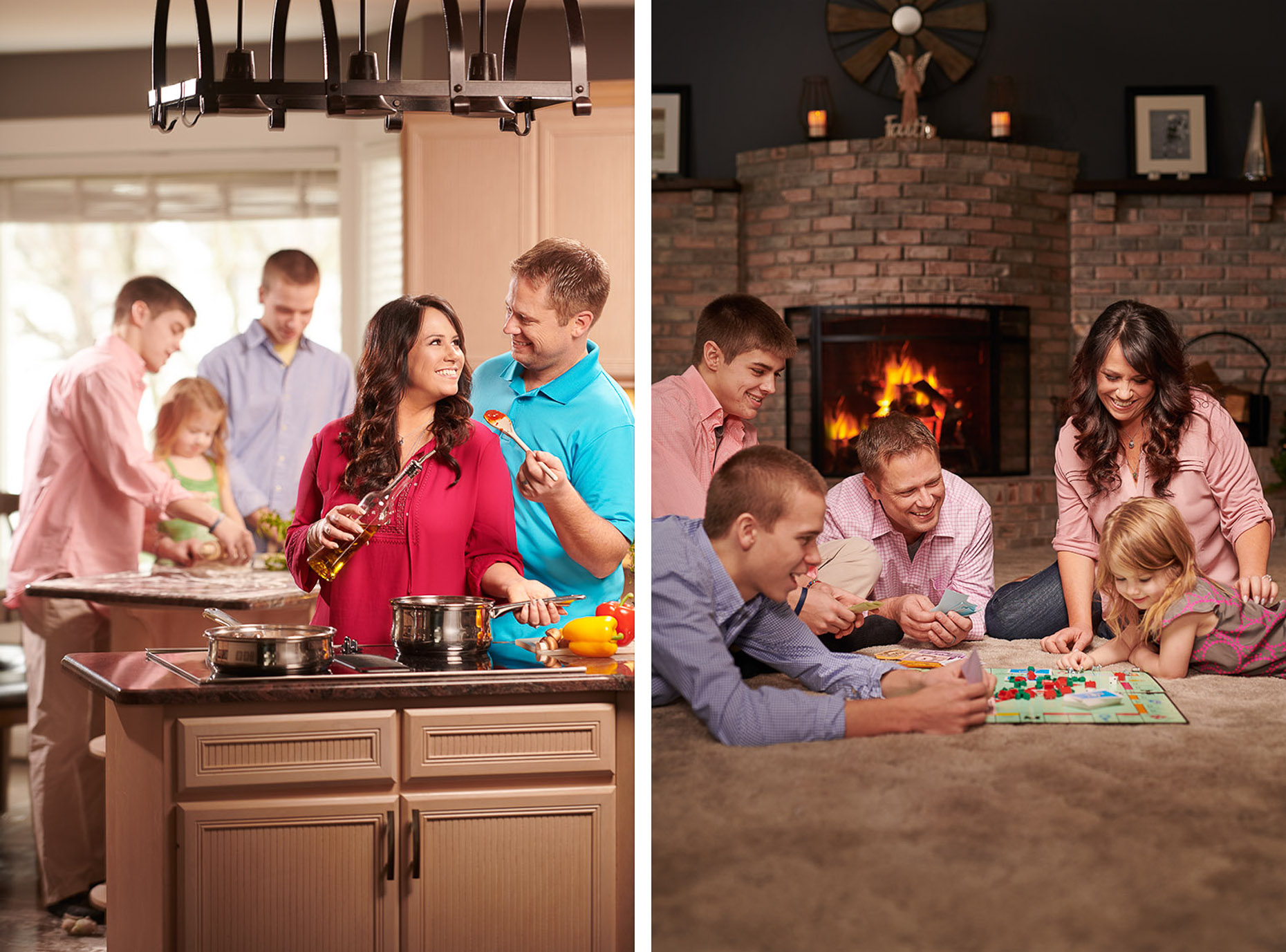 Editorial - Lifestyle - family night boardgames, cooking - portrait photographer