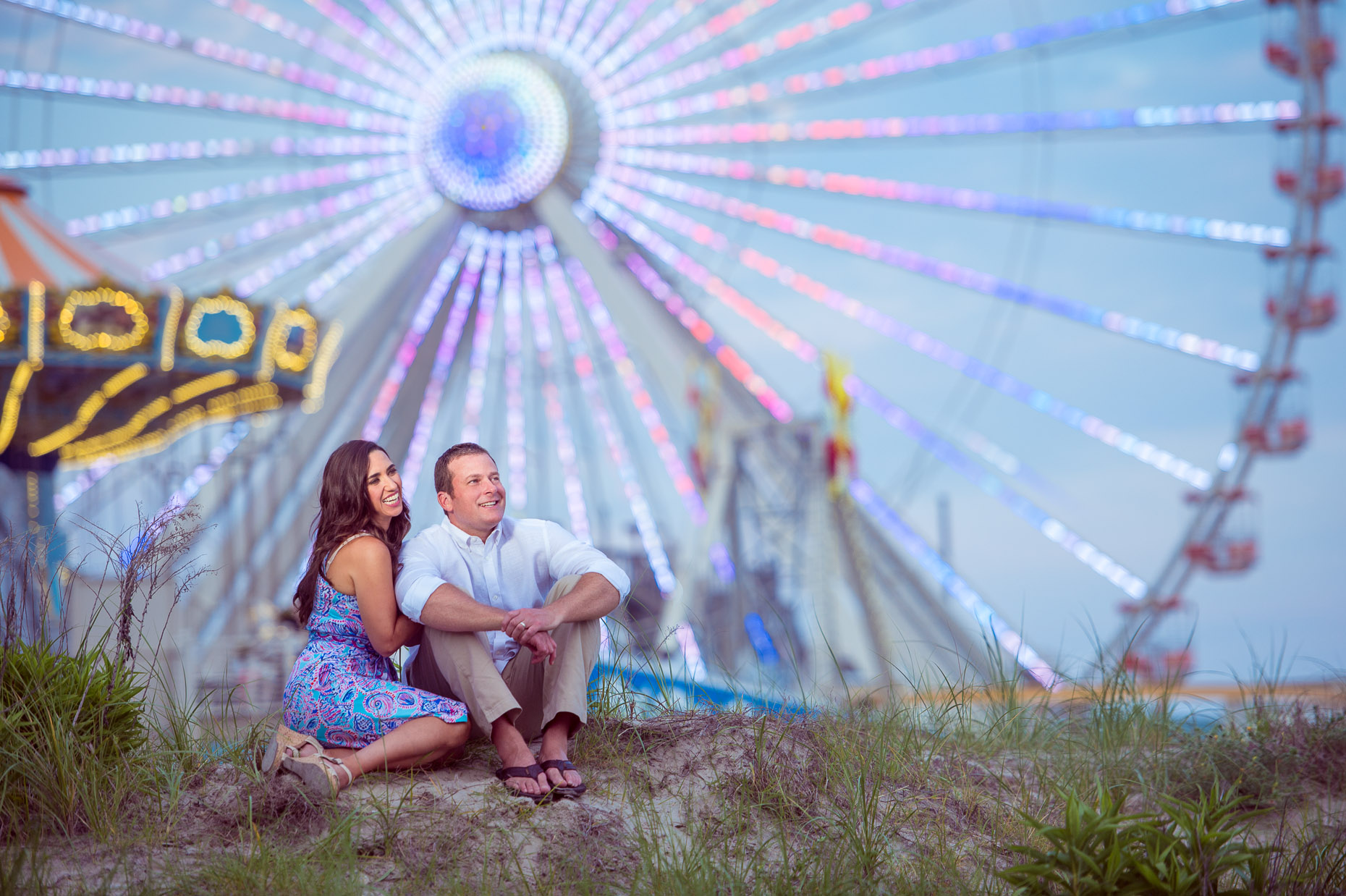 Editorial Photographer - Magazine - Ferris Wheel - park - couple