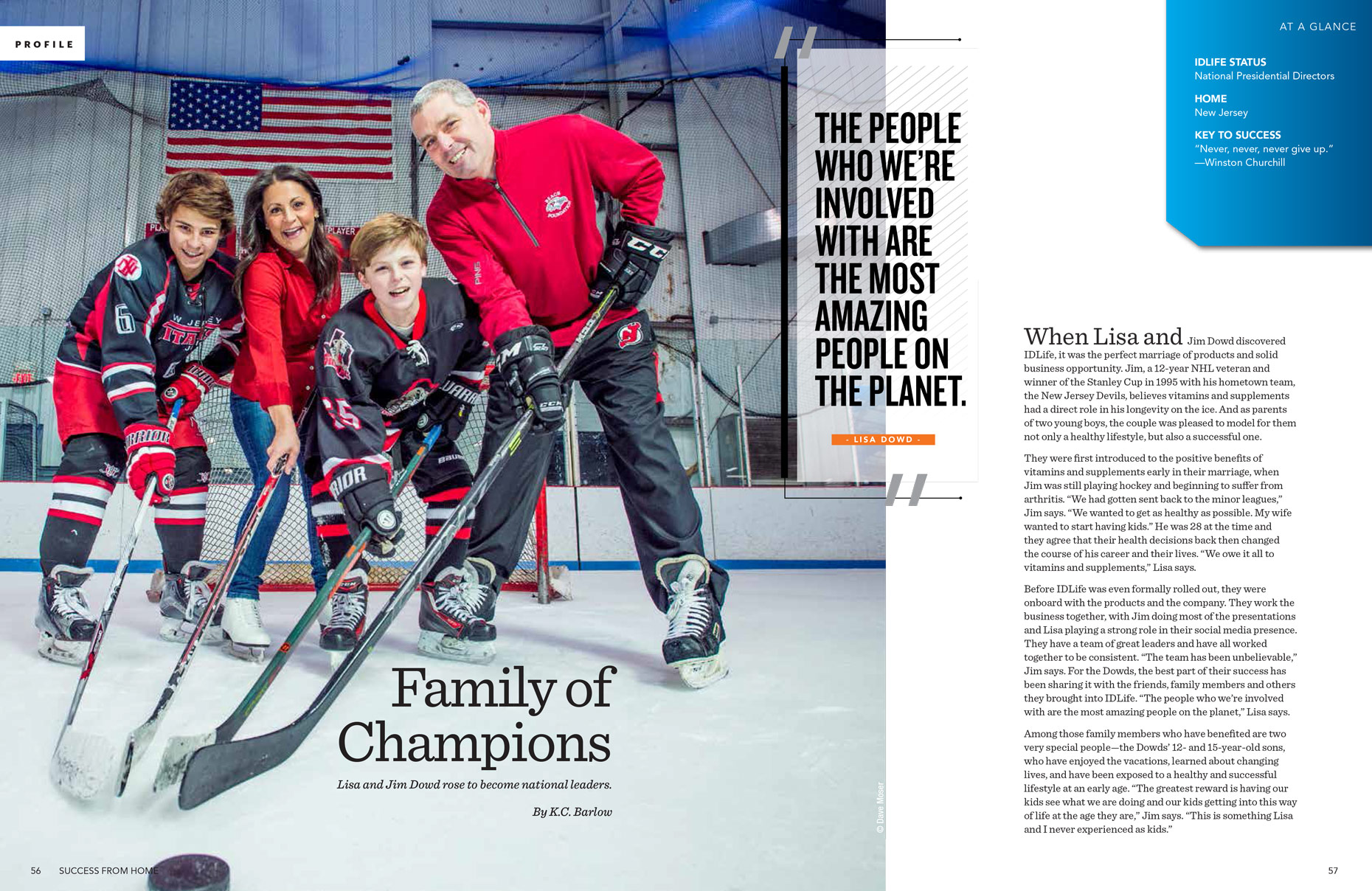 Dowd Family Hockey | IDLife Editorial Photographer