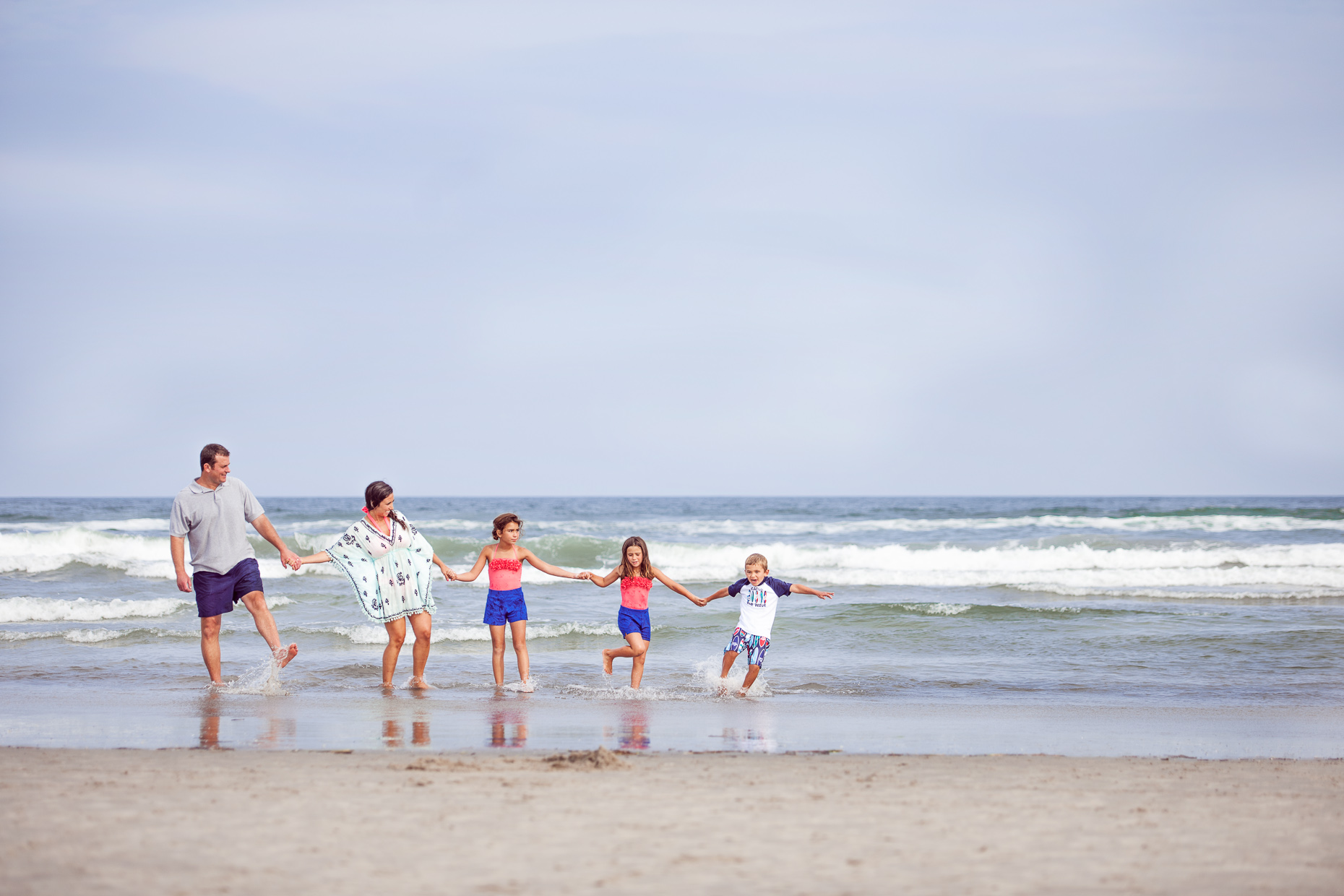 Editorial - Family portraits - beach - kids