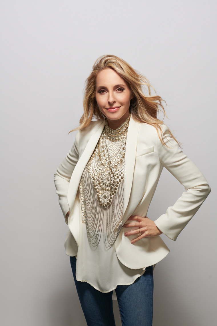 Editorial Portrait of Gabby Bernstein on seamless