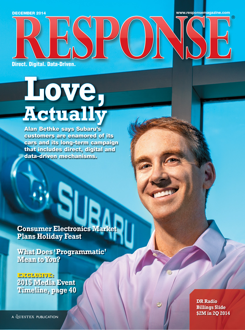 Alan Bethke of Subaru | Response Cover Editorial