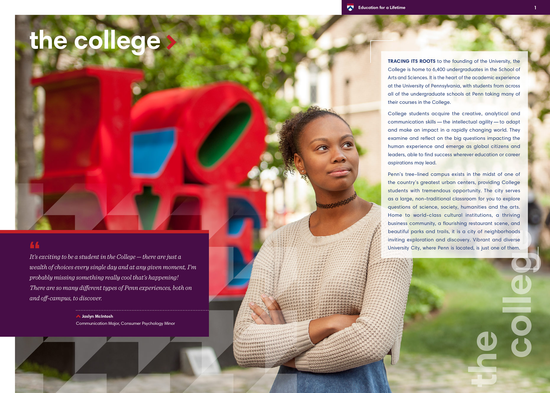 education-penn-arts-science-brochure-love-statue