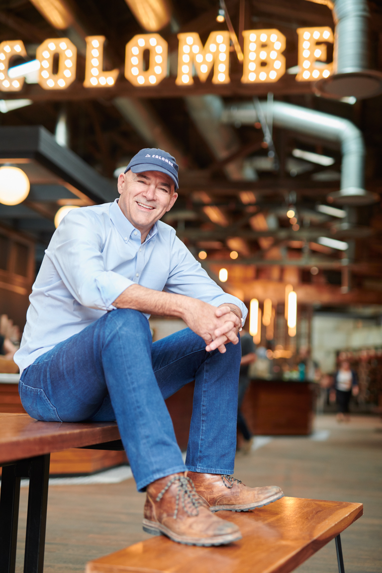 La Colombe Coffee founder in flagship store