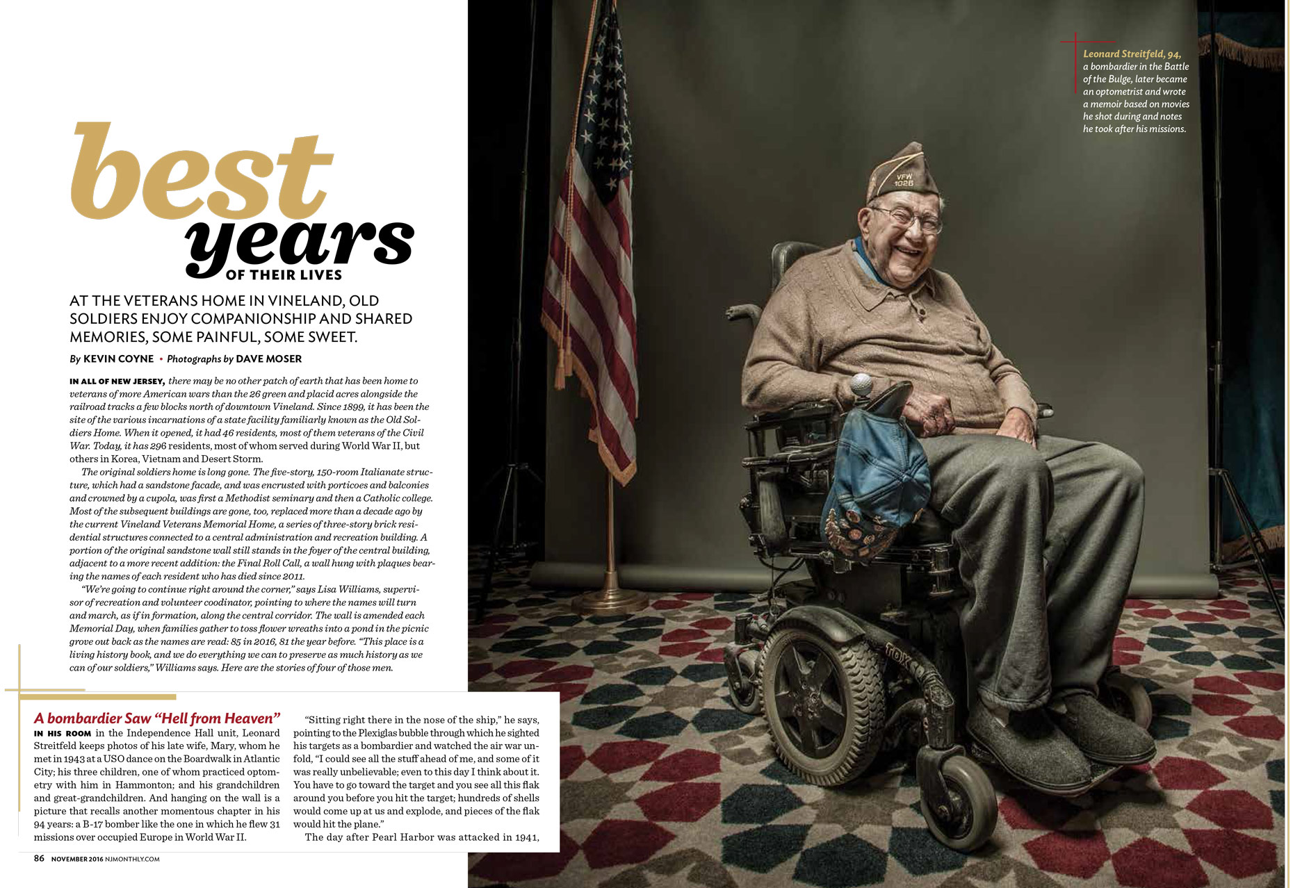 Veteran Leo Streitfeld | NJ Monthly Editorial Photographer