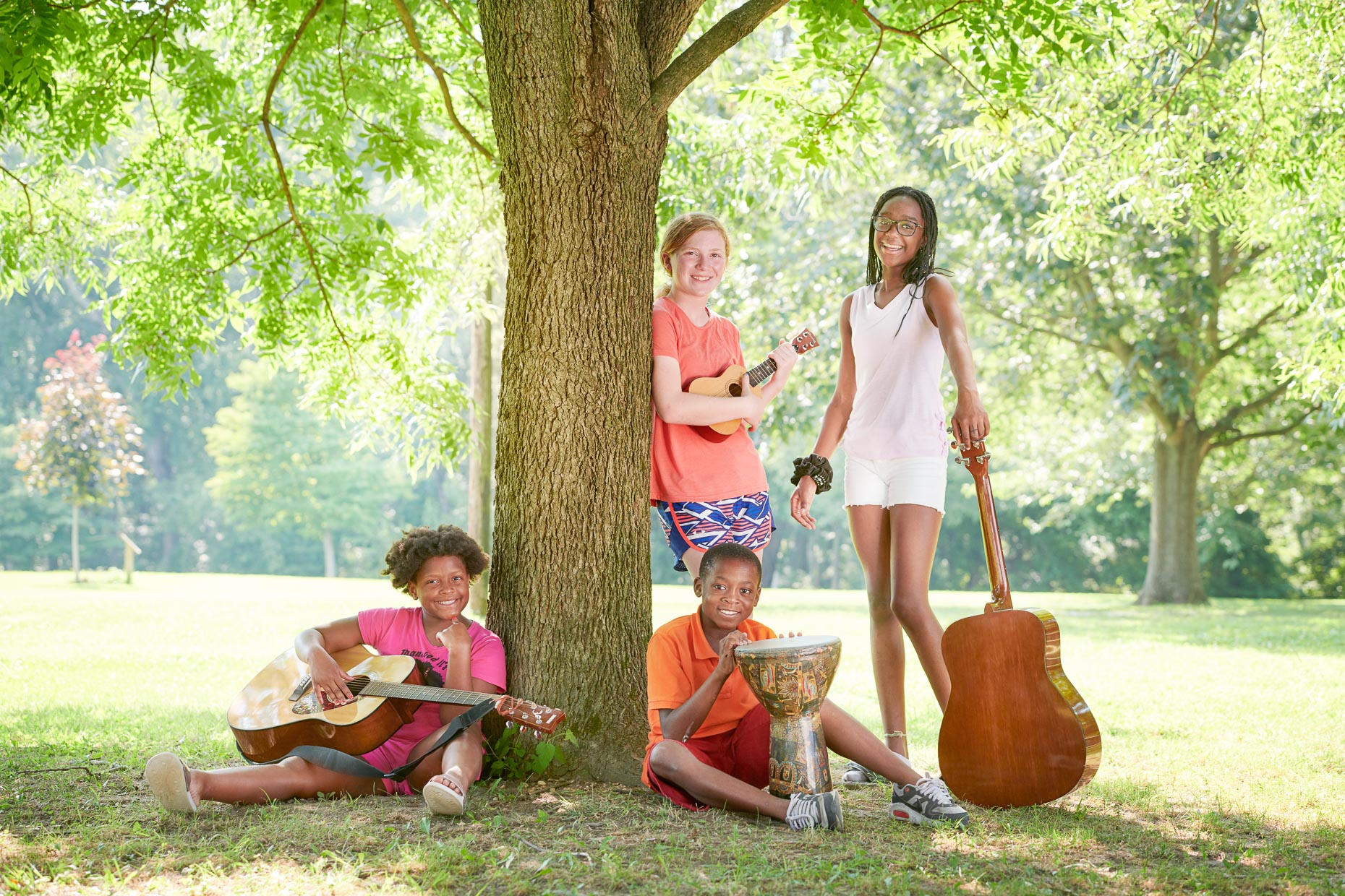 Music Students at Art Camp | Appel Farm Advertising