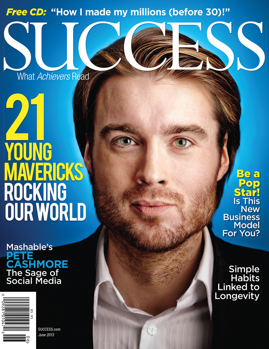 Pete Cashmore | Mashable editorial | SUCCESS cover
