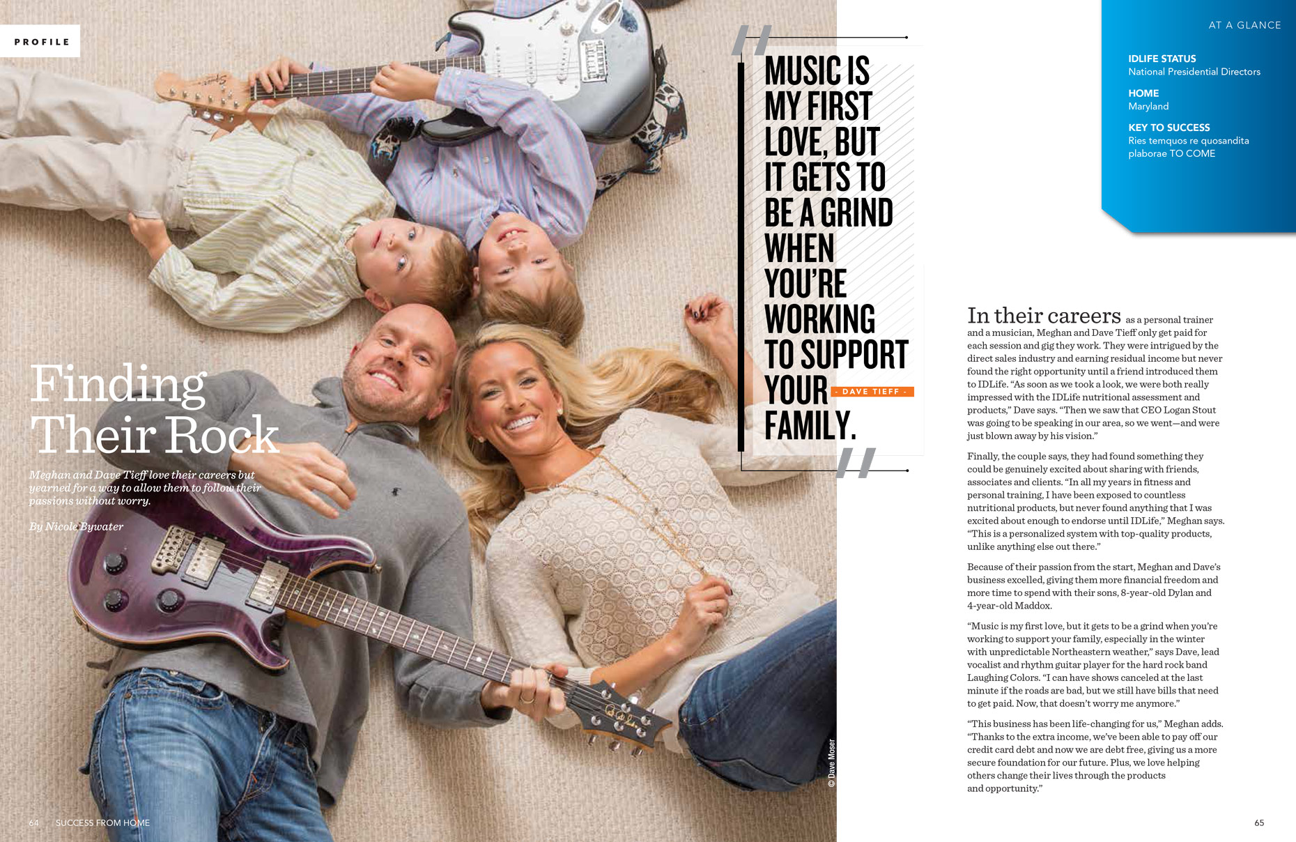 Tieff Family IDLife Advertising | editorial photographer