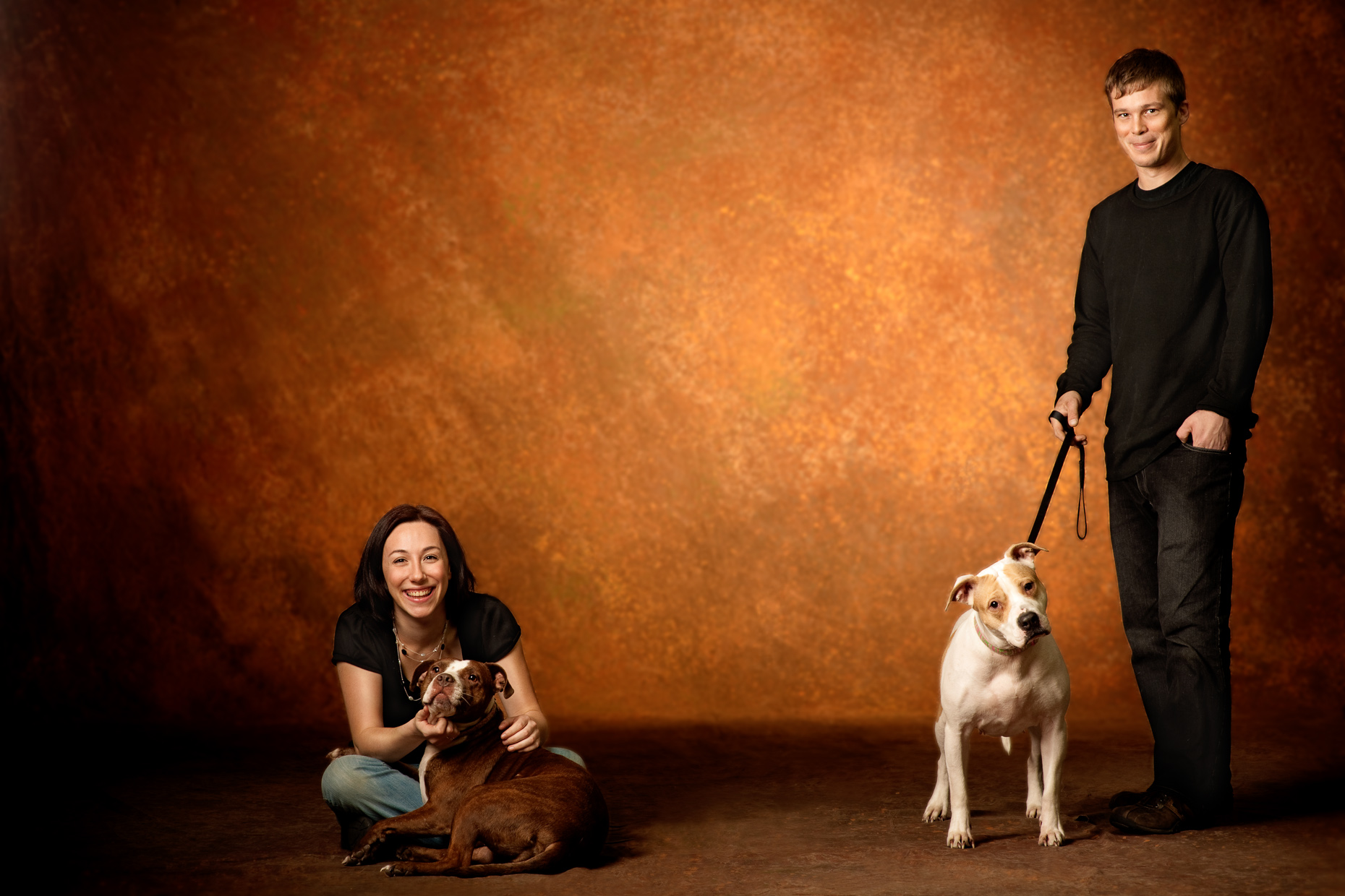 Man and Woman with Dog | Commercial Photographer