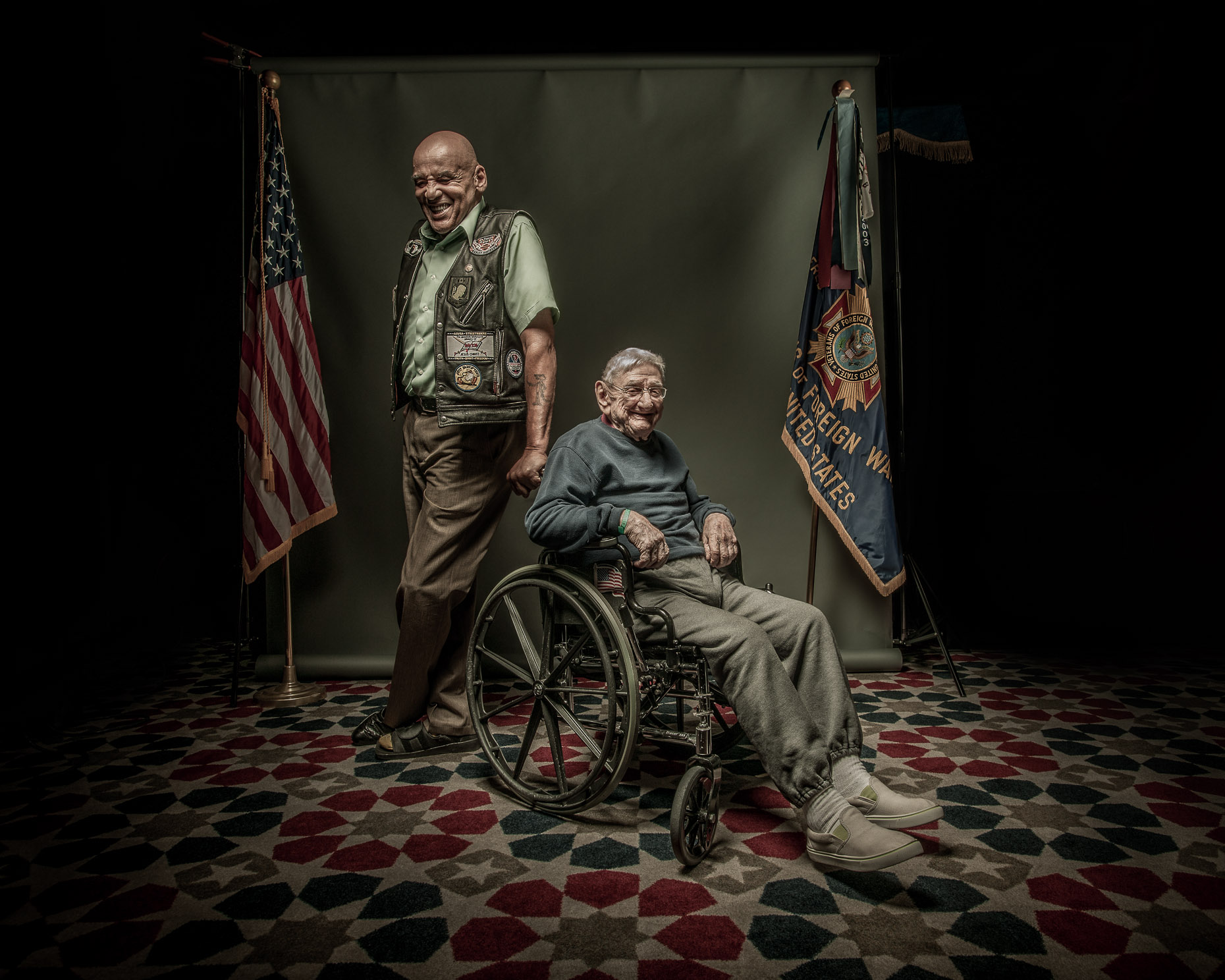 Raymond Wynder Jr. and William Nixon | Vineland Veterans Memorial Home | NJ Veterans Affairs