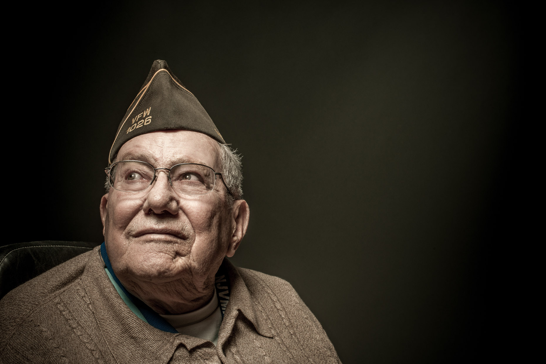 Editorial Portrait - Doc Streitfeld - War Veteran at Vineland - New Jersey Monthly